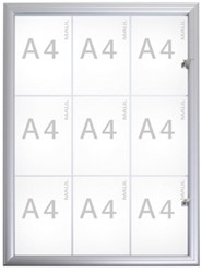 Buitenvitrine MAULadvanced, formaat 9 x A4