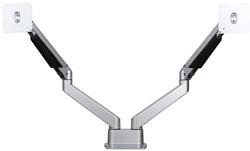 Devon dubbele monitorarm - Zilver  tot 10kg