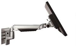 Devon Toolbar monitorarm zilver, tot 10 kg, enkel instelbaar incl, railbevestiging