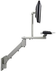 Devon monitorarm, gasveer, voor 1 monitor + 1 toetsenbord, muurbevestiging