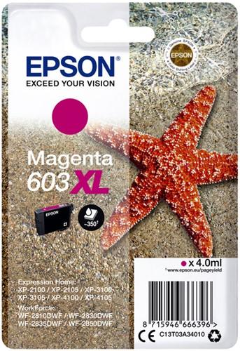 INKCARTRIDGE EPSON 603XL T03A3 ROOD 1 Stuk