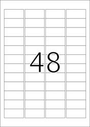 HERMA ETIKETTEN WIT VEILIGHEIDSETIKETTEN 45,7X21,2 A4 LC