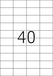HERMA ETIKETTEN TRANSPARANT MAT A4 52,5X29,7 MM FOLIE 1000 ST.
