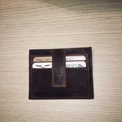 Maverick DALIAN II creditcardhouder RFID met drukknopsluiting, 1 venster - donkerkbruin