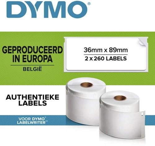 LABEL ETIKET DYMO 99012 36MMX89MM ADRES 2 Rol
