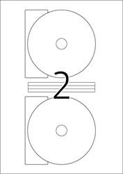 HERMA CD-ETIKETTEN GLOSSY MAXI WIT ? 116 A4 INKJET 20 ST.