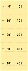 NUMMERBLOK SIGEL EXPRES 1-500 BOEKJE A 5 DOORGENUMMERD