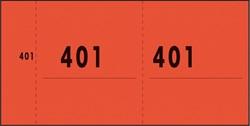 NUMMERBLOK SIGEL EXPRES ROOD 10 BLOK A 100 VEL 1 T/M 1000