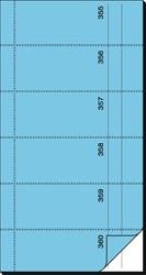 BONBOEKJE SIGEL ZELFDOORSCHR. 10,5X20CM BLAUW 360 NRS