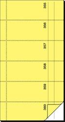 BONBOEKJE SIGEL ZELFDOORSCHR. 10,5X20CM GEEL 360 NRS