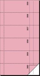 BONBOEKJE SIGEL ZELFDOORSCHR. 10,5X20CM ROSE 360 NRS