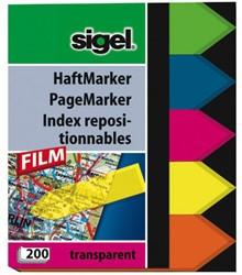 INDEXERINGSSTROOKJES FILM 60X45 PIJL 5-KLEURIG 200 VEL