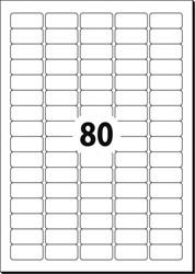 ETIKET AFNEEMBAAR 35,6X16,9 WIT SIGEL DOOS ? 25 VEL