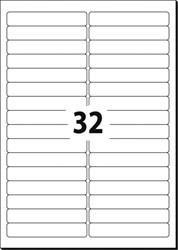 ETIKET AFNEEMBAAR 96X16,9 WIT SIGEL DOOS ? 25 VEL