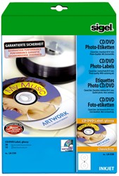 CD ETIKET SIGEL INKJET 117MM WIT HOOGGLANS DOOS ? 15 VEL