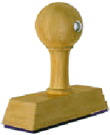 Handstempel, 25mm breed, 1 regel
