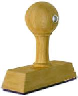 Handstempel, 40mm breed, 1 regel