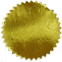 Label goudkleurig, 51 mm. 1000 stuks