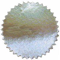 Label zilverkleurig, 51 mm. 100 stuks
