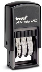 Trodat Printy dater 4810 3,8  mm. NL zw/zw