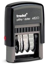 Trodat Printy dater 4820 4mm zw/zw
