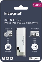 USB-STICK INTEGRAL 128GB 3.0 I-SHUTTLE 1 STUK