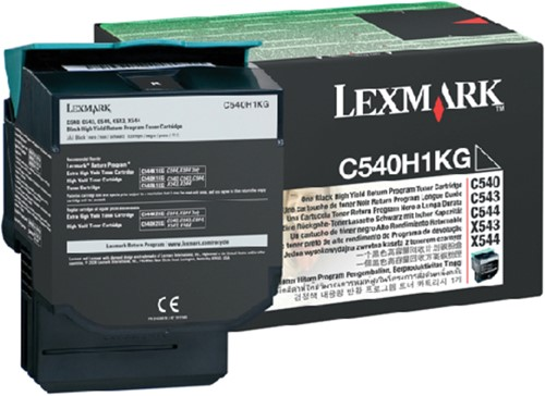 TONERCARTRIDGE LEXMARK C540H1KG PREBATE 2.5K ZWART 1 Stuk