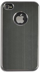 HOES CASE IPHONE 4/4S ALUMINIUM FINISH ZWART 1 STUK