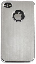 HOES CASE IPHONE 4/4S ALUMINIUM FINISH GRIJS 1 STUK