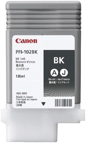 INKCARTRIDGE CANON PFI-102 ZWART 1 Stuk