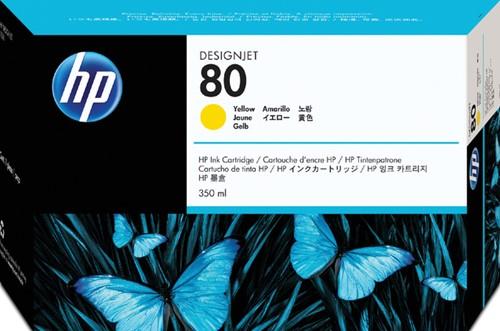INKCARTRIDGE HP 80 C4848A GEEL 1 Stuk