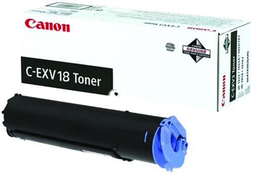 TONERCARTRIDGE CANON C-EXV 18 8.4K ZWART 1 Stuk