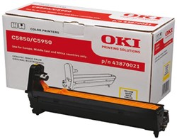 DRUM OKI 43870021 C5850 C5950 GEEL 1 STUK