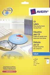 ETIKET AVERY CD C9660-8 HOOGGLANS 16ST 8 VEL