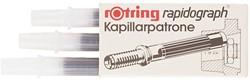 INKTPATROON ROTRING KAPILLAIR 590517 ZWART 3 STUK