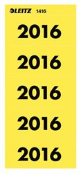 RUGETIKET LEITZ 2016 GEEL JAARETIKET 100 STUK