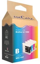 INKCARTRIDGE WECARE BRO LC-1000 ZWART 3 KLEUREN 4 STUK