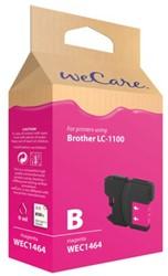 INKCARTRIDGE WECARE BRO LC-1100 ROOD 1 STUK