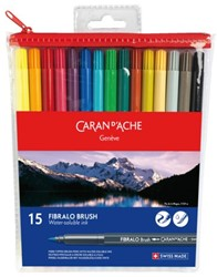 BRUSHSTIFT CARAN D'ACHE AQUAREL FIBRALO 15 STUK