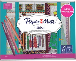 FINELINER PAPER MATE FLAIR 1.0MM ASS MET KLEURBOEK 1 STUK