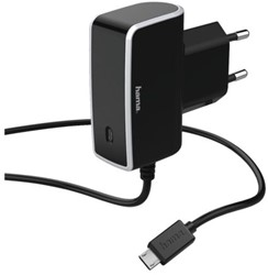 OPLADER HAMA MICRO USB 1A ZWART 1 STUK