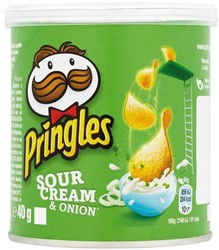 CHIPS PRINGLES SOUR&ONION 40GR 1 STUK