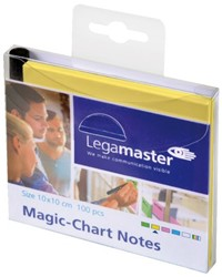 MAGIC-CHART NOTES LEGAMASTER 10X10CM GEEL 100 VEL
