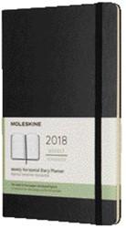 AGENDA 2018 MOLESKINE 12MND 7/2 LARGE HARD ZWART 1 STUK