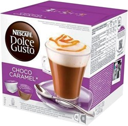 DOLCE GUSTO CHOCO CARAMEL 16 CUPS / 8 DRANKEN 16 CUP