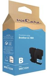 INKCARTRIDGE WECARE BRO LC-980 BLAUW 1 STUK
