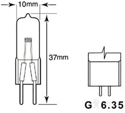 HALOGEENLAMP PHI CAPS 50W GY6.35 12V CL 4000H 1 STUK