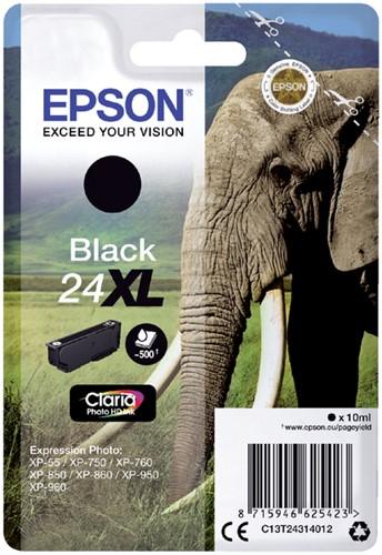 INKCARTRIDGE EPSON 24XL T2431 ZWART 1 Stuk