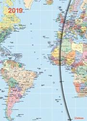 AGENDA 2019 TENEUES WORLD MAPS MAGNETO 16X22CM 1 STUK
