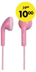 HEADSET HAMA HAPPY PLUGS EARBUD IN EAR ROZE 1 STUK